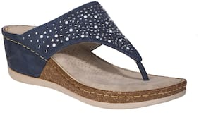 Khadim's Women Navy Blue Wedges