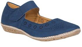 Khadim's Women Blue Slip-On Shoes