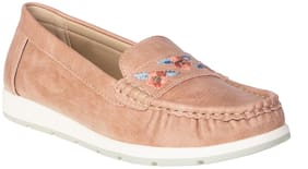 Khadim's Women Pink Loafers