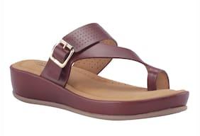 Khadim's Women Maroon Slippers