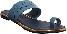 Khadim's Women Blue One Toe Flats