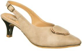 Khadim's Women Beige Pumps