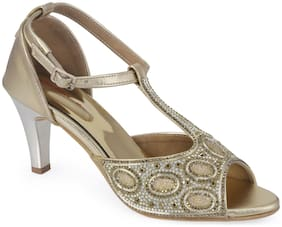 Khadim's Women's Gold Heel Sandal