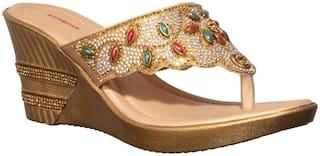 Khadim's Women Gold Wedges