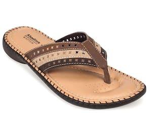 9eada0360537 Buy Khadim s Women Brown Flats Online at Low Prices in India ...