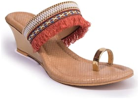 Khadim's Women Orange Sandals