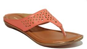 Khadim's Women Pink T-strap Flats