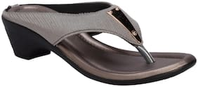 Khadim's Women Grey Casual Heel Sandal