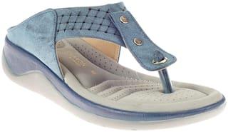 Khadim's Women Blue Sandals