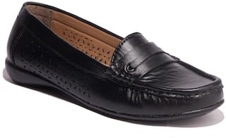 Khadim Sharon Women Black Casual Loafer Shoe