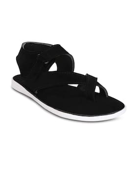 Kielz-Black-Velcro-Men's-Sandals