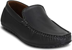 Kielz-Black-Slip-On-Men's-Loafers