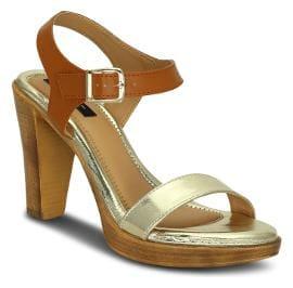 Kielz Women Gold Heeled Sandals