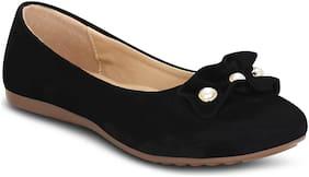 Kielz-Black-Slip On-Flat-Women-Bellies