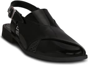 Kielz-Black-Synthetic-Peshawari-Men's-Sandals