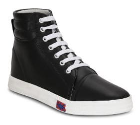 Kielz-Black-Women-Lace-Ups-Sneakers