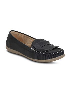 Kielz-Black-Slip-On-Women'S-Loafers