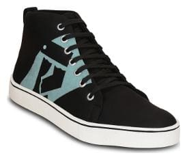 Kielz-Black-Men's-Lace-Ups-Sneakers