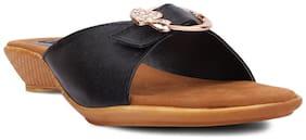 Kielz Black Women Sandals