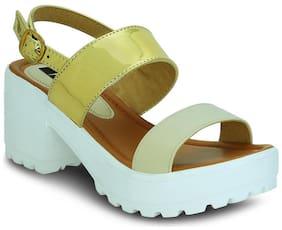 Kielz Golden Women Heels