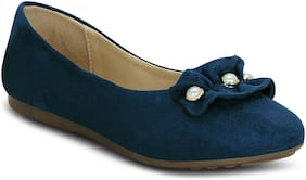 Kielz-Blue-Slip On-Flat-Women-Bellies