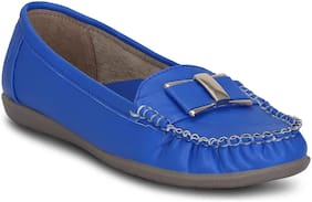 Kielz-Blue-Synthetic-Slip-On-Loafers