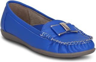 Kielz Women Blue Loafers