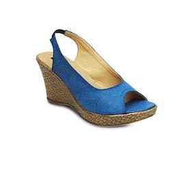 Kielz Blue Wedges