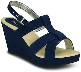 Kielz-Blue-Wedge-Sandals