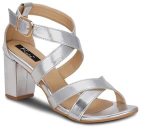 Kielz-Buckle-Silver-Synthetic-Sandals