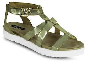 Kielz Golden Women Sandals