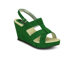 Kielz-Green-Wedge-Sandals