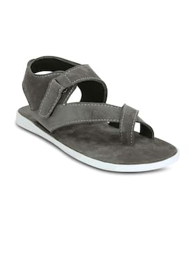 Kielz-Grey-Velcro-Men's-Sandals
