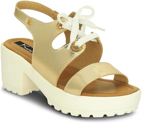 Kielz Women Gold Wedges