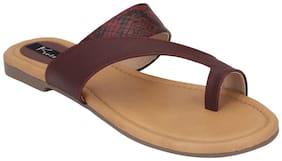 Kielz Women Maroon Slippers