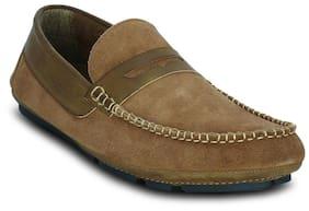 Kielz Men's Beige Loafers