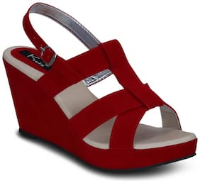 Kielz-Red-Wedge-Sandals