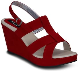 Kielz-Red-Wedge-Sandals