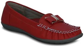 Kielz-Slip On-Red-Synthetic-Loafers