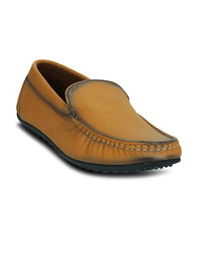 Kielz-Tan-Slip-On-Men's-Loafers