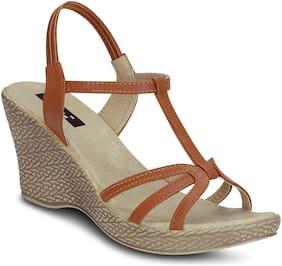 Kielz-Tan-Women-Wedges-Sandals
