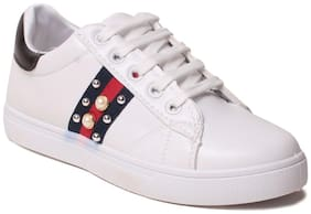 Women Solid Casuals ( White )