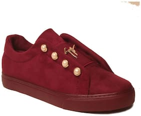 Women Solid Casuals ( Red )