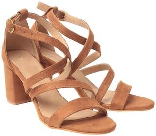 Klaur Melbourne Women Tan Heeled Sandals