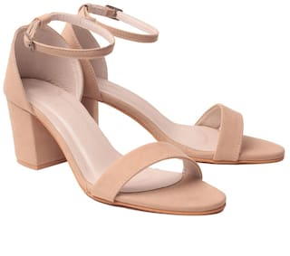 Klaur Melbourne Women Beige Heeled Sandals