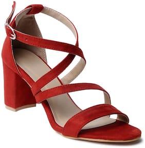 Klaur Melbourne Women Red Heeled Sandals