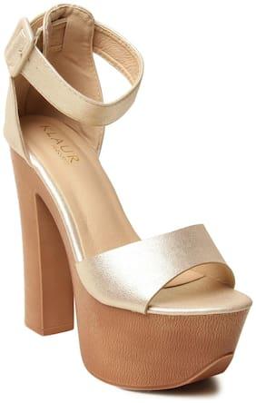 Klaur Melbourne Women Silver Heeled Sandals