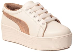 Klaur Melbourne Women White Casual Shoes