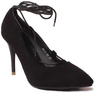Klaur Melbourne Women Black Heeled Sandals