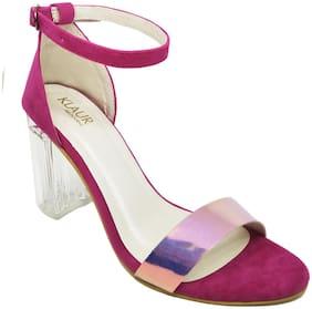 Klaur Melbourne Women Pink Heeled Sandals